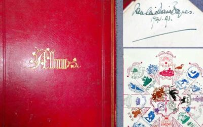 c1890 Crest Album Owned & Signed by Illustrator Pauline Baynes