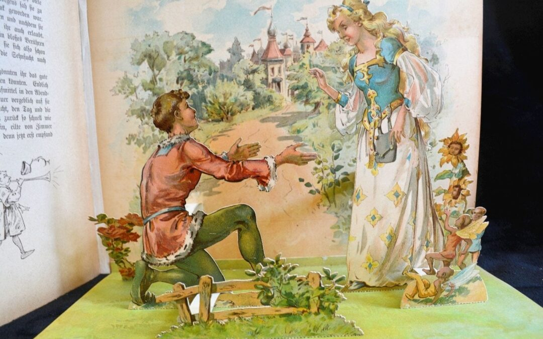 1898 German Pop-Up Children's Fairy Tale Book