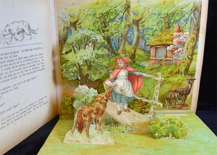 german-antique-little-red-riding-hood