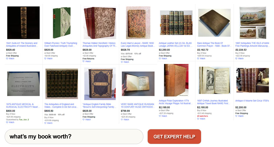How to determine value of an antique book