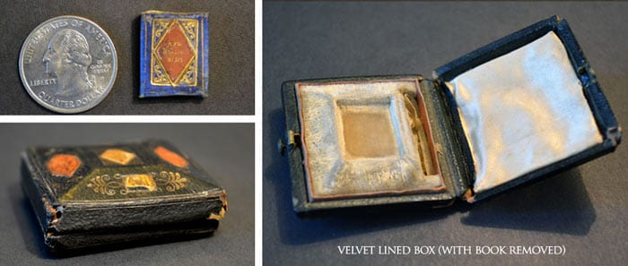 Miniature Antique Book, Bijou Almanac