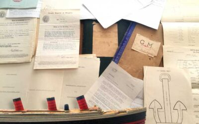 Now at Auction: Rare WWII RMS Queen Mary Charts & Documents