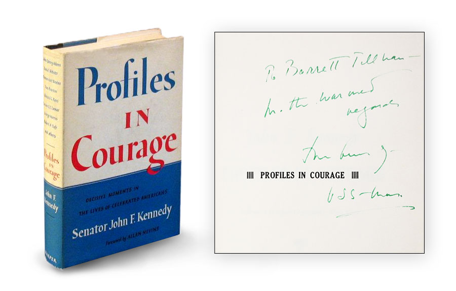 "Signed ""Profiles in Courage"" by John F. Kennedy"
