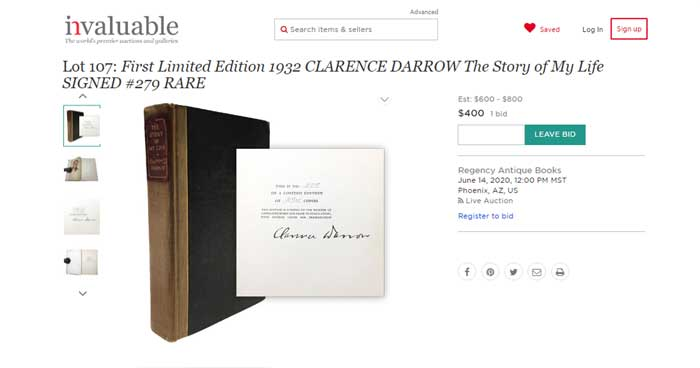 Online Rare Book Auctions